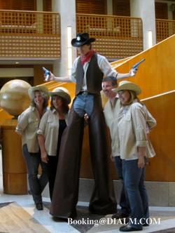Cowboy Stilt Walker