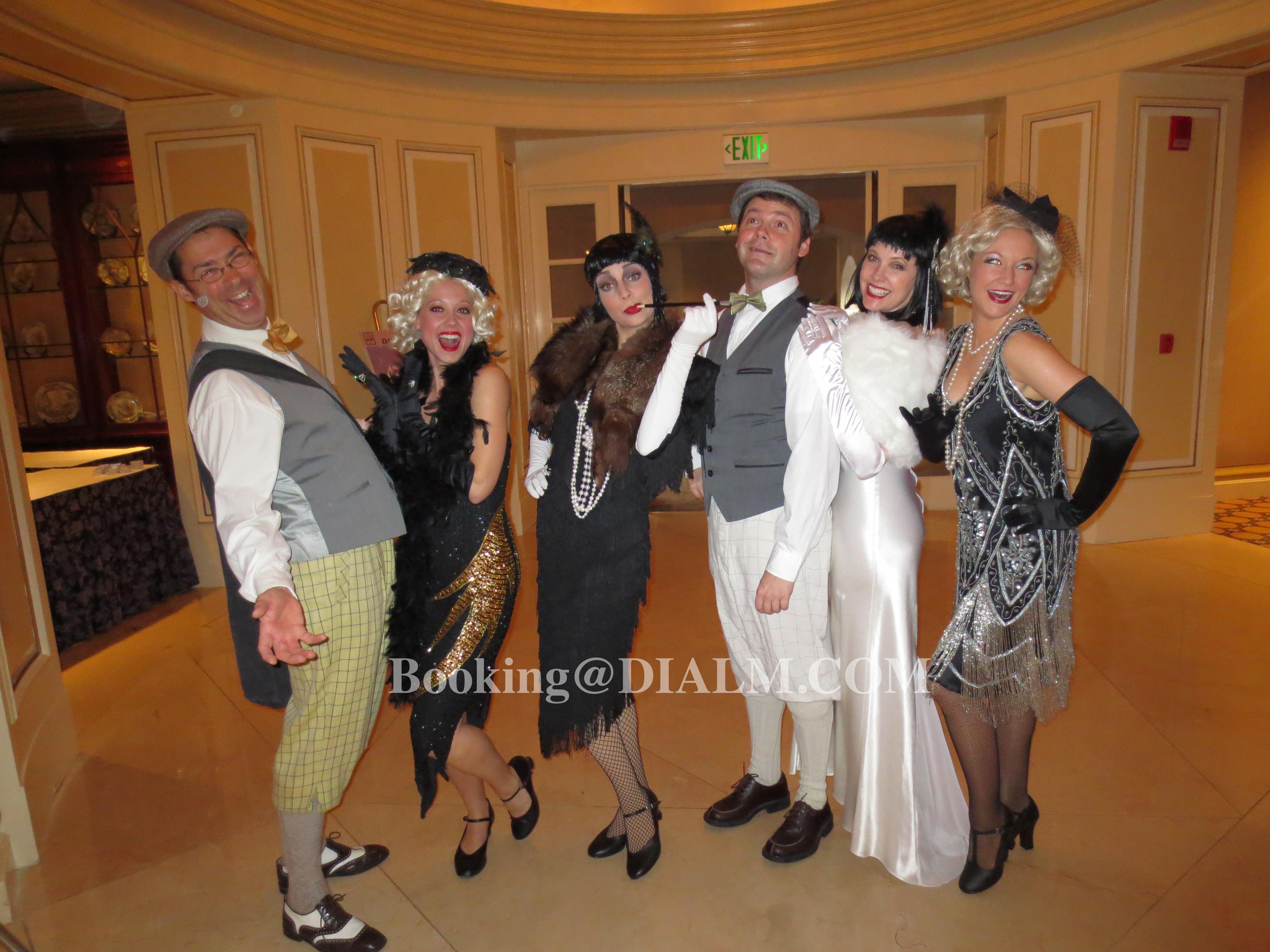 #TheGreatGatsby #1920's #GatsbyCharacters #CigaretteGirls #Flappers #Dancers #Music #ThemeParty #Mur