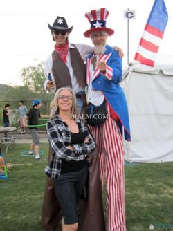 Stilt walker Cowboy Uncle Sam