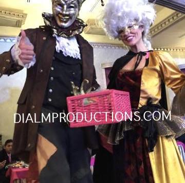 Stilt Walker Masked Mardi Gras DialM