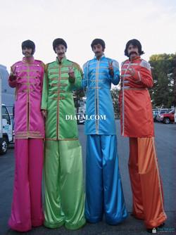 Beatles Stilt Walkers
