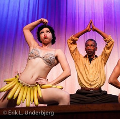 Performing at Herrang with the awesome Chester and Sharon