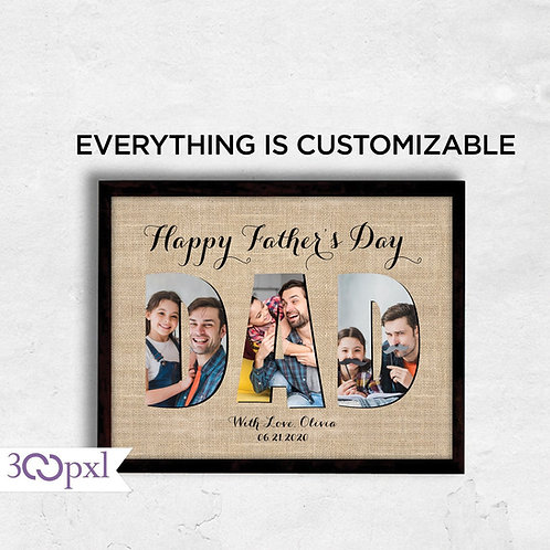 Father's Day Gifts, Personalized Fathers Day Gift for Dad From Daughter