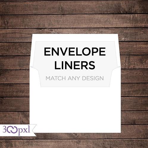 Envelopes Liner Upgrade for Printed Invitations