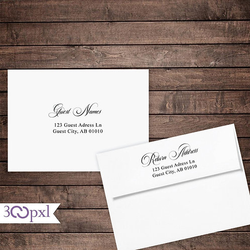 Address Printing for Printed Invitations