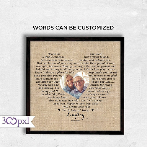 Father's Day Gift, Personalized Fathers Day Gift for Dad From Daughter