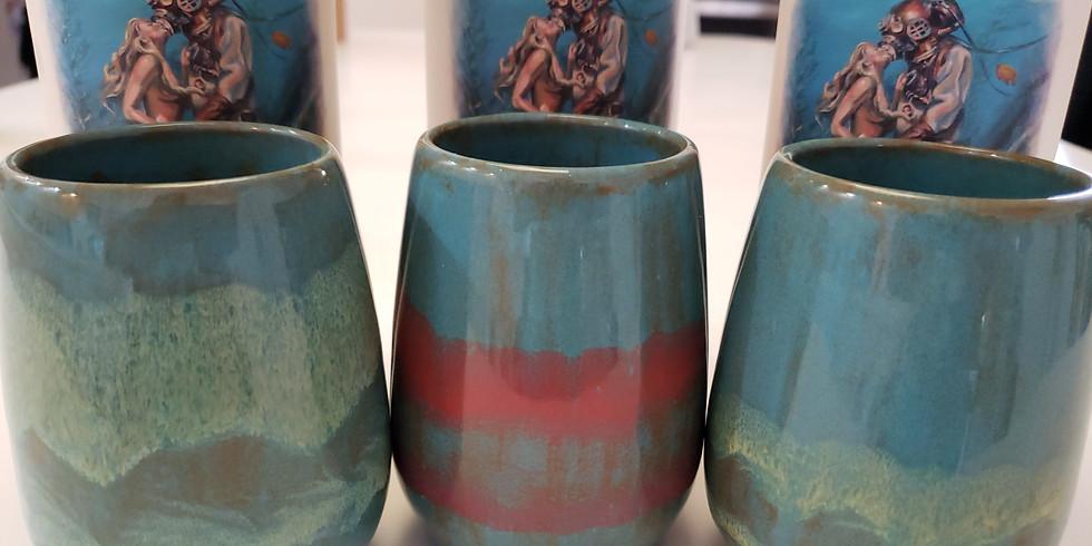Ceramic Wine Tumbler Paint & Sip