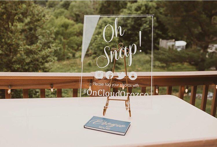 Oh snap acrylic sign
