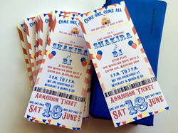 Circus style invitations