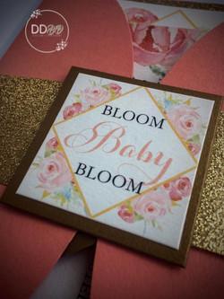 Floral garden baby shower invitation