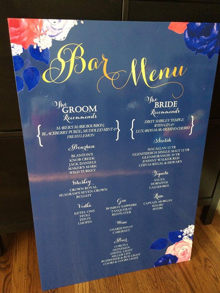 Bar sign poster board