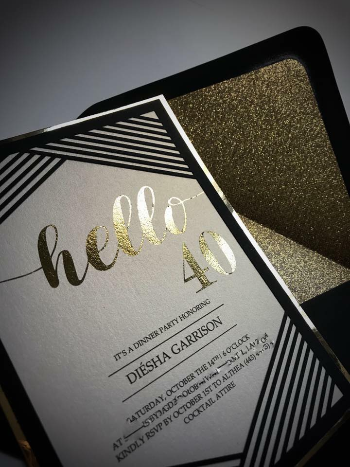 Hello 40 Birthday invitations