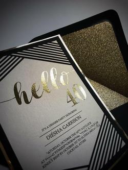 Hello 40 Birthday invitations