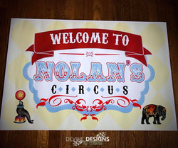 Circus welcome sign