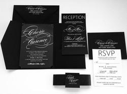 black invitations