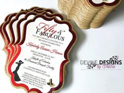 Fifty & Fabulous invitations