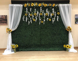 Sunflower backdrop