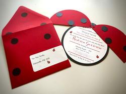Lady Bug invitations