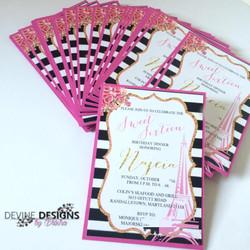 Sweet Sixteen Parisian invitations