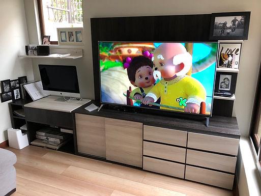 Mueble Tv Personalizado a espacio + mesa de trabajo elevadiza