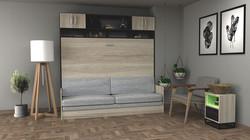 cama-plegable-con-sillón-y-muebles