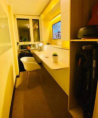 Cama escritorio abatible mueble TV