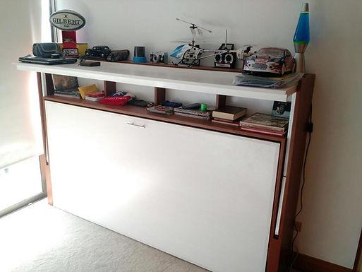 Cama plegable escritorio dinámico 1 plaza