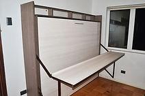 cama abatible 2 plazas con escritorio