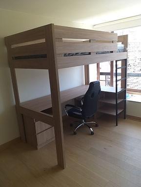 Camarote con escritorio 1 plaza o 1 plaza 1/2 Personalizado