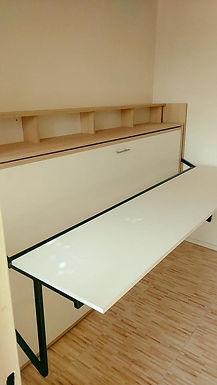 Cama escritorio 1,5 plazas con pizarra