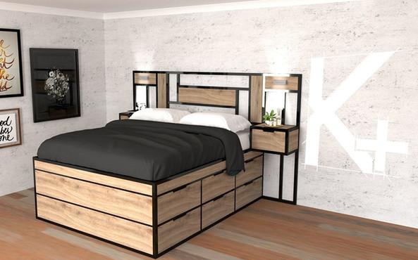 cama-matrimonial-funcional-madera-metal