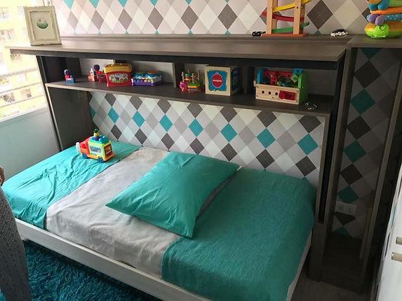 cama plegable con escritorio dinámico