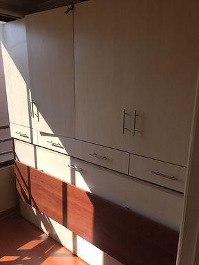 Cama Plagable escrirorio abatible horizontal 1 o 1 1/2 Plaza / Maple - Cerezo