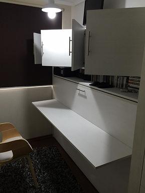 Cama Escritorio Plegable con 1/2 mueble superior ( 1 plaza o 1 plaza 1/2 )