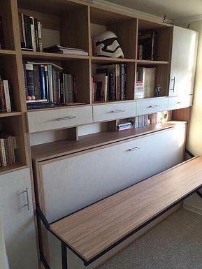 Cama plegable Escritorio Dinámico + mueble superior y lateral ( 30 - 40 cm )