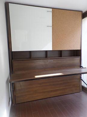 Camarote / Litera con pizarra y escritorio dinamico