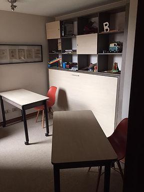Cama Plegable con mueble superior ( 1 plaza o 1 plaza 1/2)