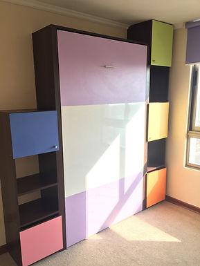 Cama plegable Vertical 1 plaza 1/2 / Design Kids 007