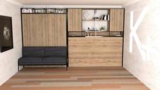 cama-plegable-con-sillon-y-muebles