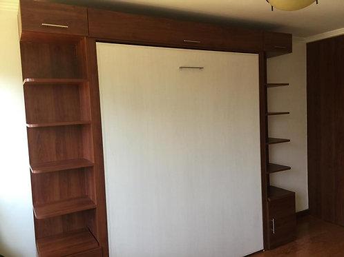 Cama Plegable Vertical 2 Plazas + Laterales y superior