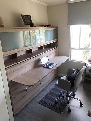 Cama Escritorio Abatible Mueble Superior