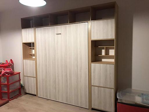 Cama plegable Vertical 2Plazas + Muebles complementarios