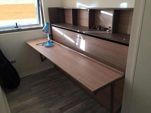 Cama escritorio 1 plaza Olmo Alpino