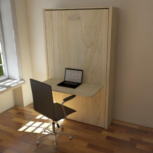 Cama vertical 1.5 plazas + escritorio abatible