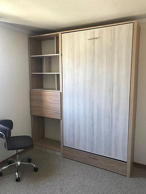 Cama plegable vertical 1 plaza 1/2 o 1 plaza + mueble lateral