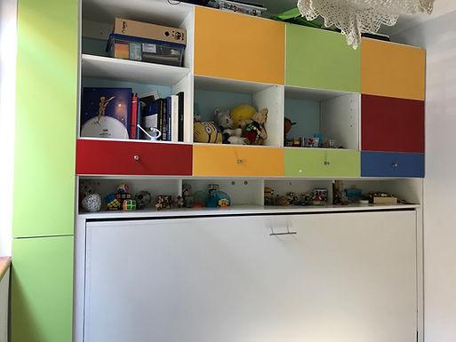 Cama Horizontal 1 plaza 1/2 Kids Design 09