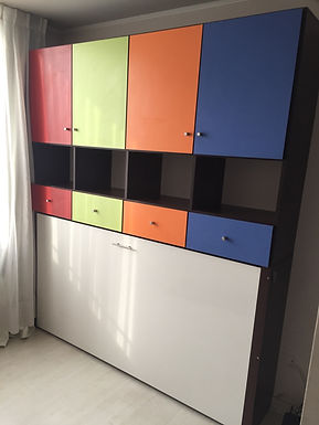Cama Plegable Horizontal / Kids Design 08