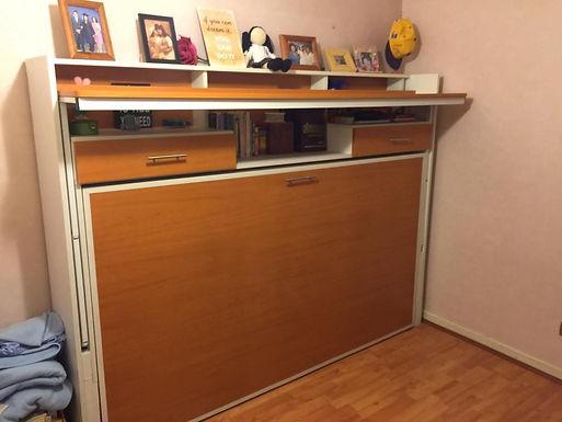 Cama escritorio 1.5 plazas + cajoneras