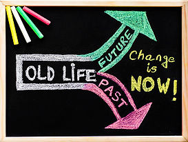 Diagram on changing from old life