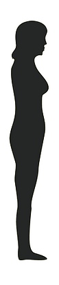 slim lady silhouette